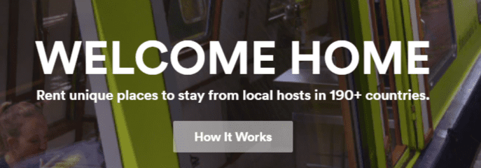 airbnb homepage headline
