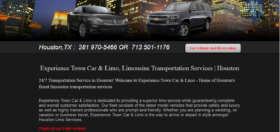Experience Limo Website Copy