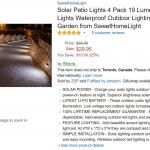 Amazon Product Description – Solar Lights