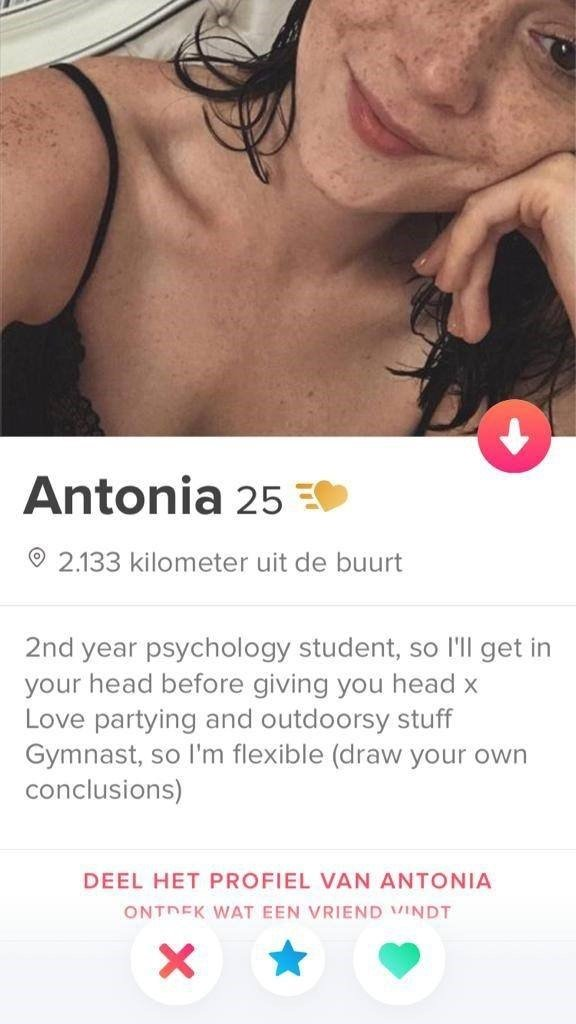 Profile examples female tinder 15 Witty