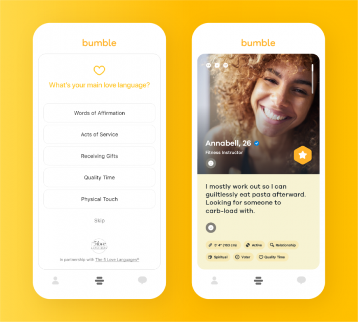 Bumble - Learn The 5 Love Languages® — and Add Yours to Your Bumble Profile