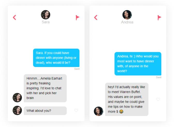 online dating first message dinner guest